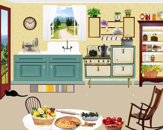 obrázek retro kuchyně
