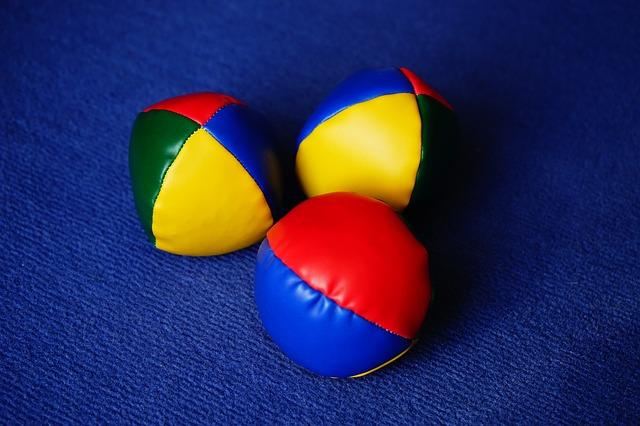 měkké žonglovací míčky