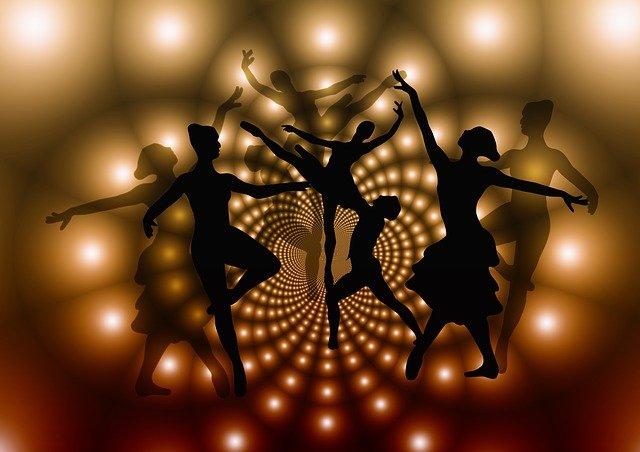 siluety tanečnic