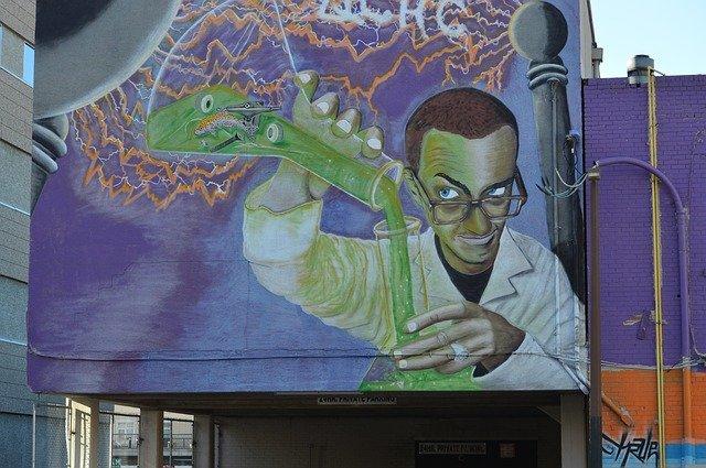 graffiti na budově