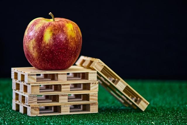 jablko na paletách
